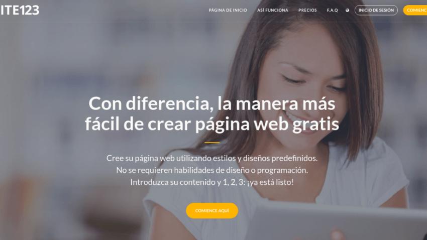 WEB GRATIS CON SITE123