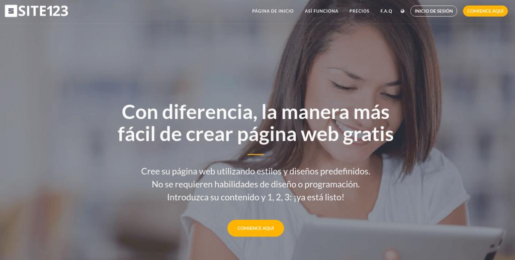 CREA TU WEB GRATIS CON SITE123